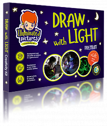 Kids Glow-in-the-Dark Drawing Board: Drawing Toys Make Glowing Pictures – Includes Drawing Tablet for Kids, Stencil, Light Pen and Magic Wand + Easel Stand – Educational Toy